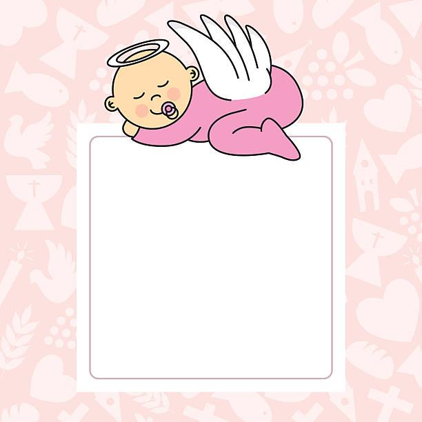 baby girl sleeping vector art illustration