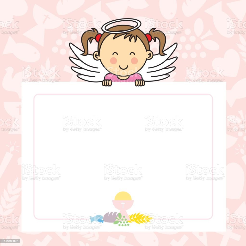 Baby girl with wings - ilustración de arte vectorial