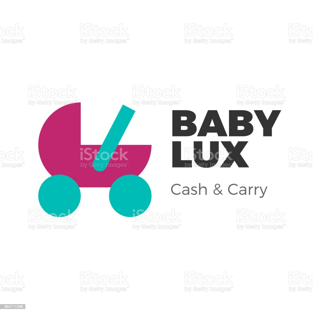 Baby goods logo vector art illustration