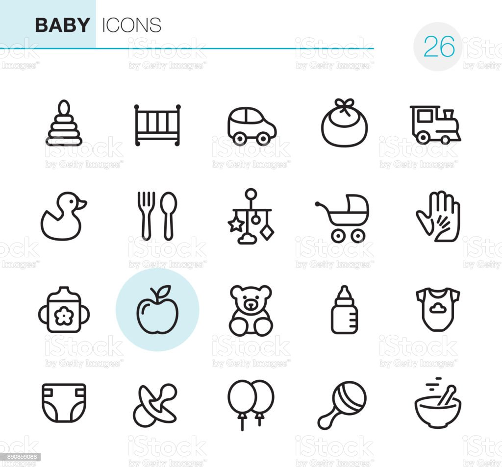 Baby Goods - Pixel Perfect icons vector art illustration