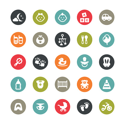 Baby Goods related vector icons / Ringico series