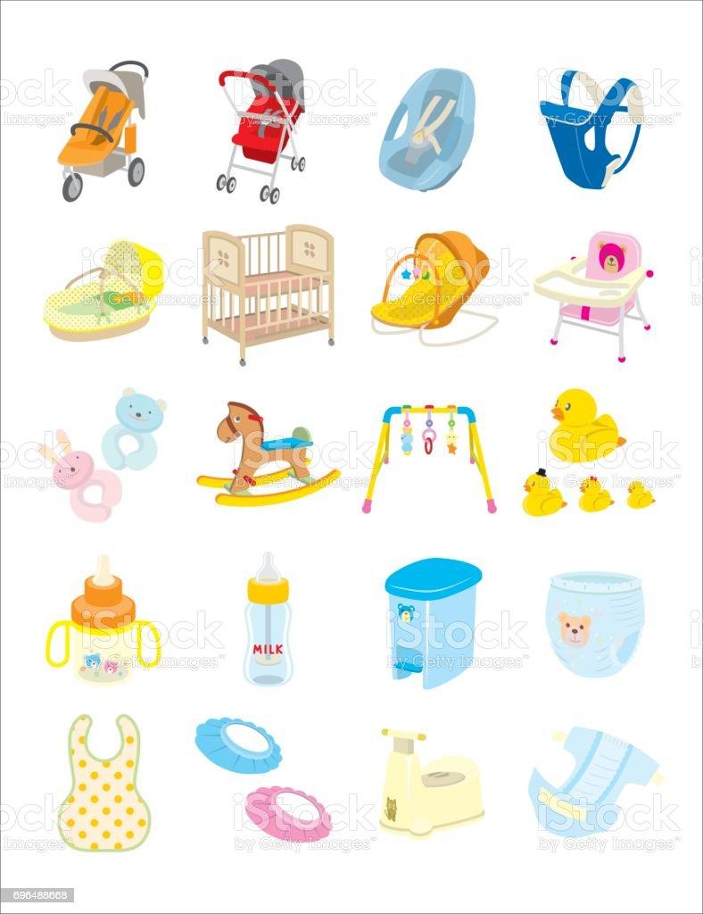 Baby goods vector art illustration