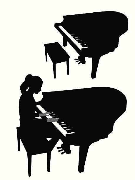 Royalty Free Piano Silhouette Grand Piano Outline Clip Art ...