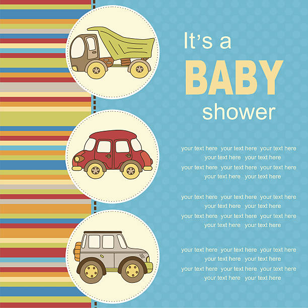 Baby Grußkarte oder Einladung – Vektorgrafik