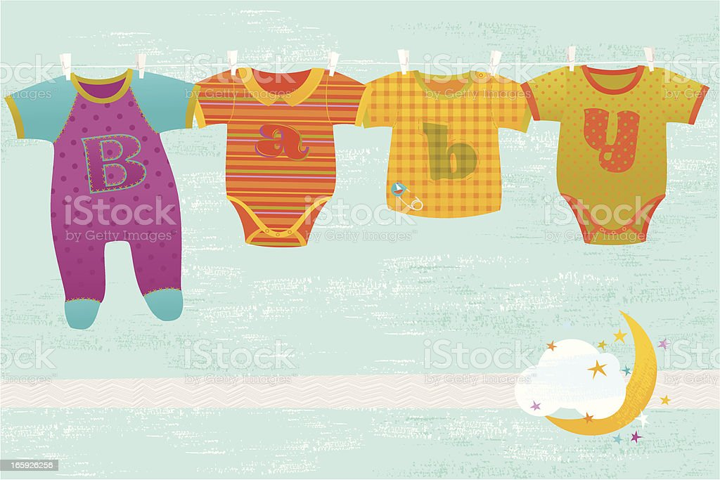 Baby Greeting Card vector art illustration
