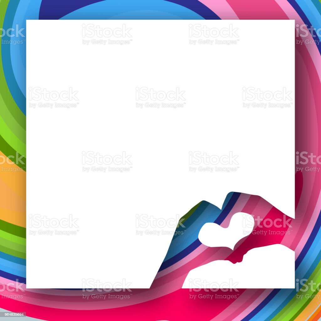 Baby hands in the shape of a heart on a bright colorful background White banner Creative modern youth concept of posters banners templates advertising Element design Abstract clean background Vector royalty-free baby hands in the shape of a heart on a bright colorful background white banner creative modern youth concept of posters banners templates advertising element design abstract clean background vector stock vector art & more images of anniversary