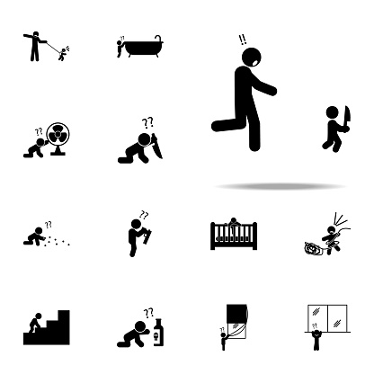 baby, hazard, knife icon. Baby icons universal set for web and mobile