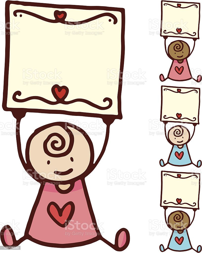 Baby holding a blank sign royalty-free baby holding a blank sign stock vector art & more images of african ethnicity