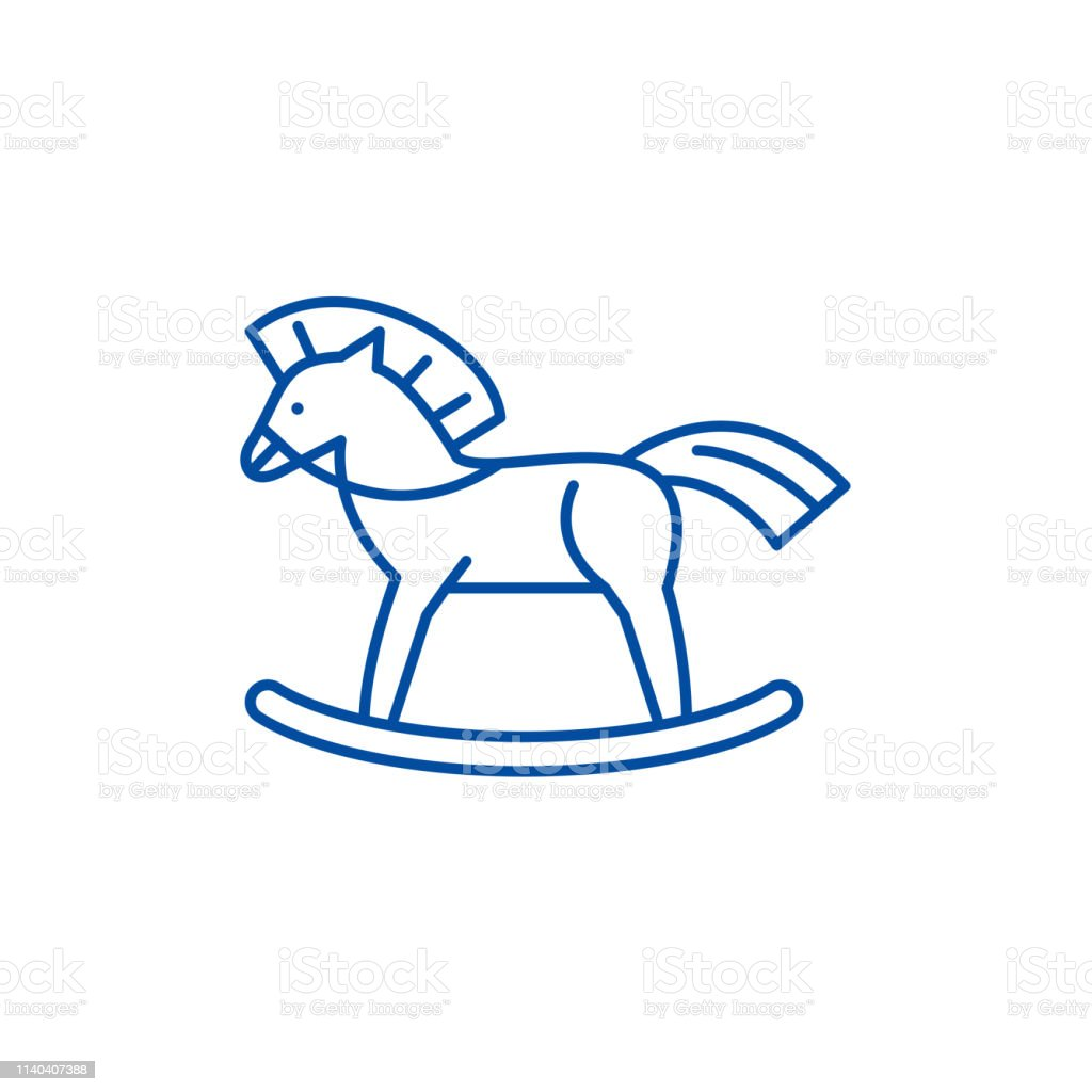 Baby Horse Line Icon Concept Baby Horse Flat Vector Symbol Sign Outline Illustration Stock Illustration Download Image Now Istock