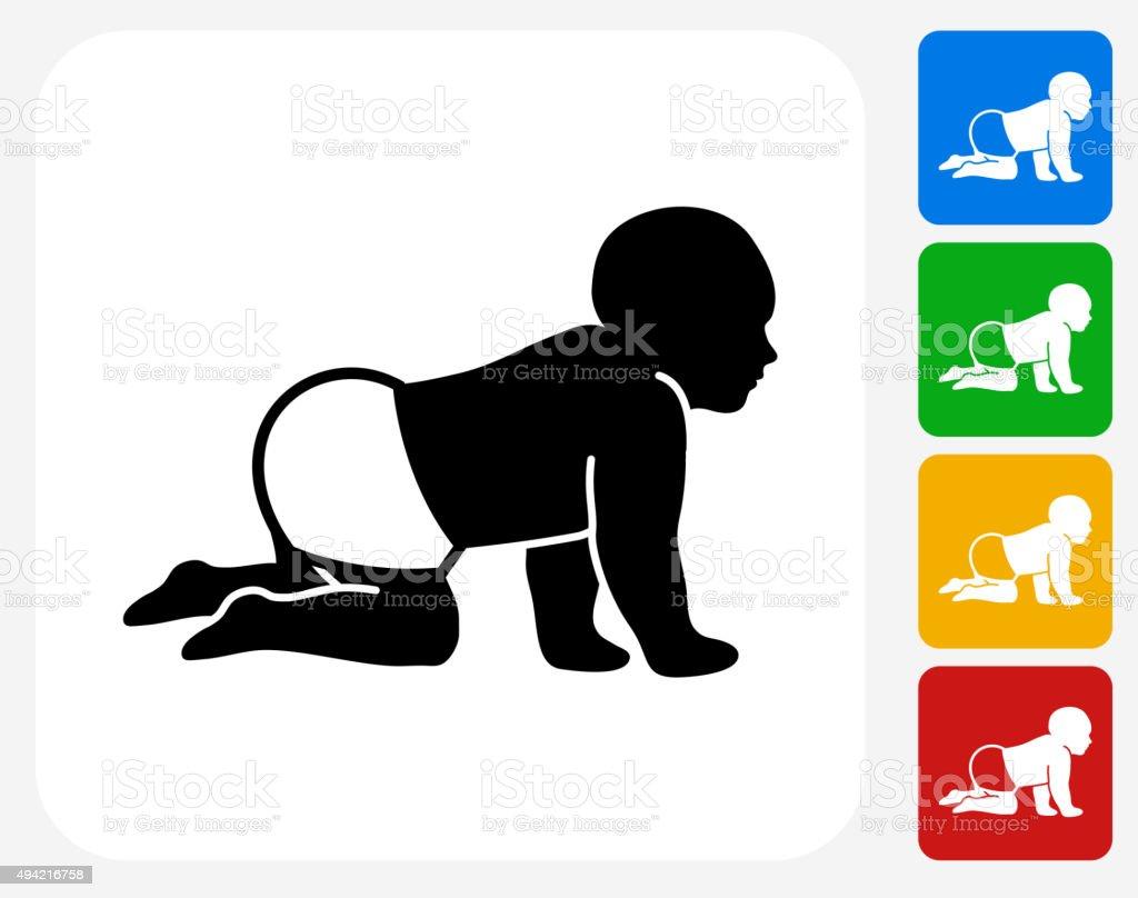 Baby Icon Flat Graphic Design vector art illustration