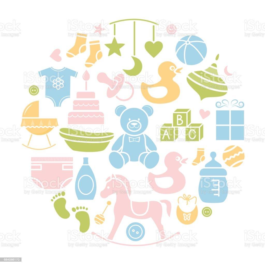 Baby icon flat. vector art illustration