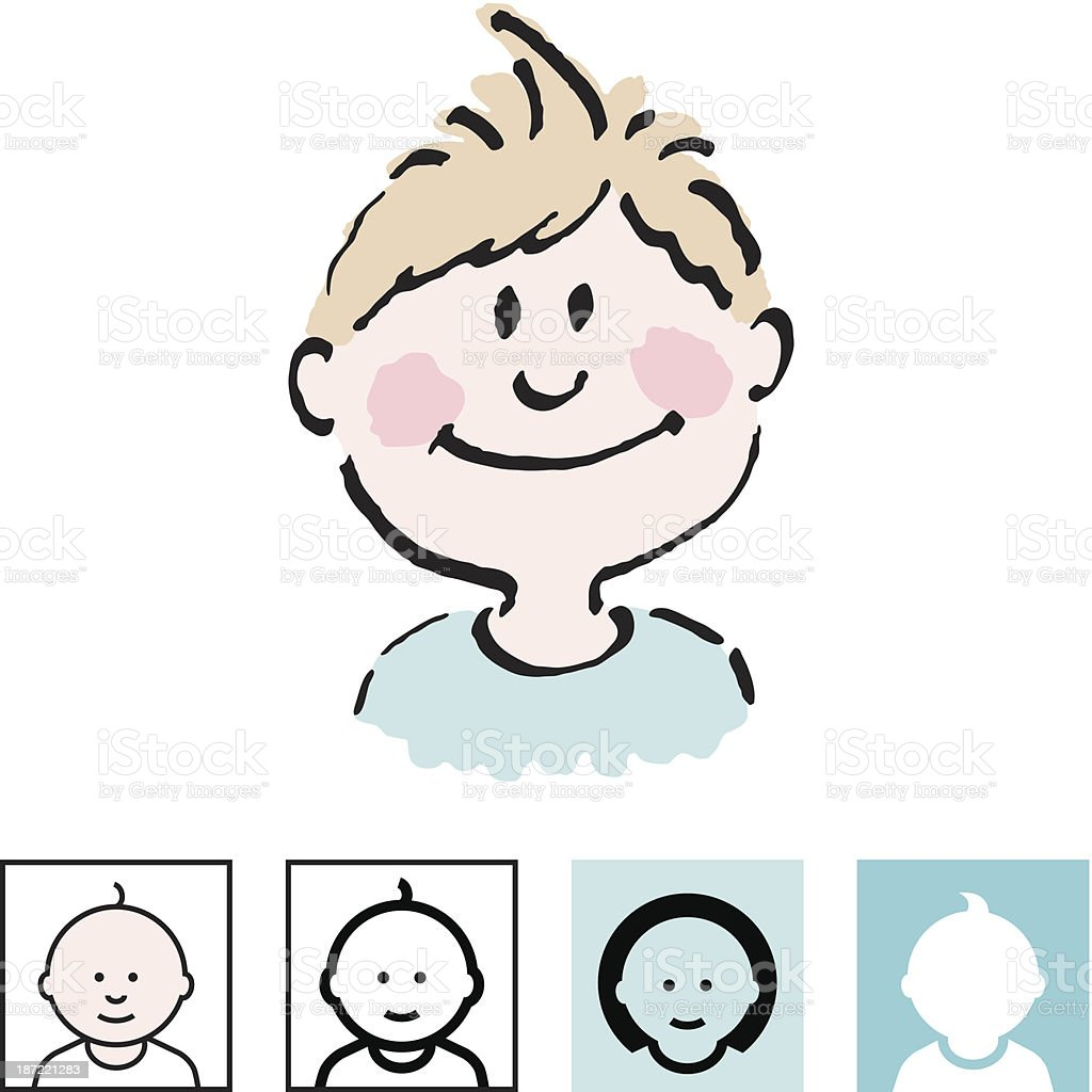 Baby icon set royalty-free stock vector art