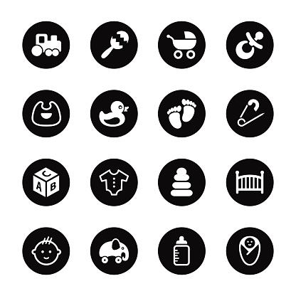 Baby Icons - Black Circle Series