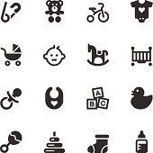 Vector file of Baby Icons - Black Series related vector icons for your design or application.