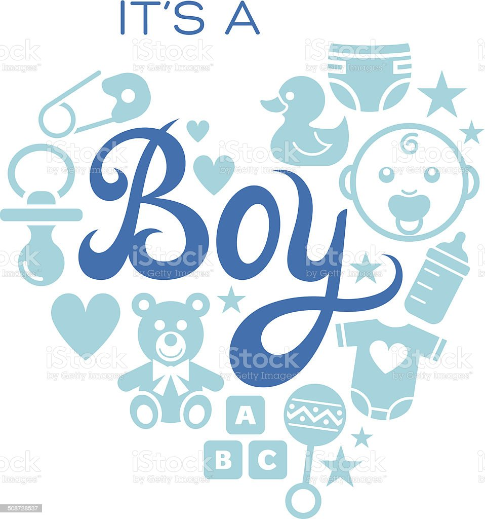 baby icons its a boy stock vector art 508728537 istock