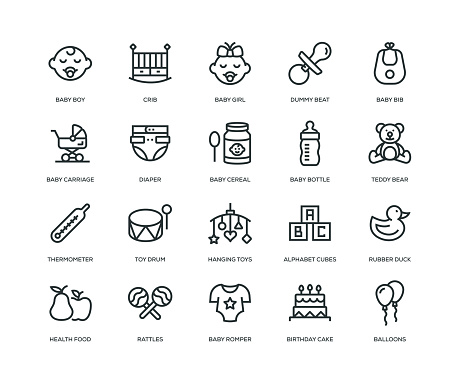 Baby Icons - Line Series