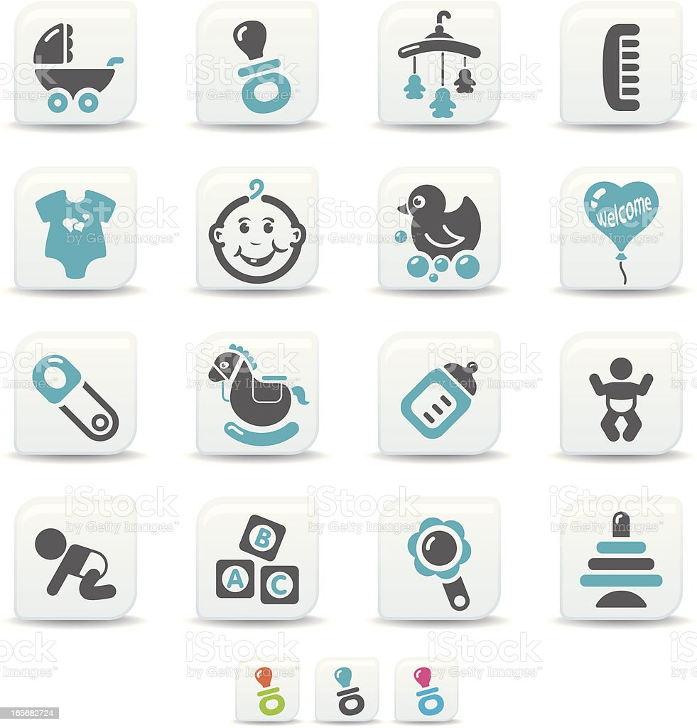 baby icons | simicoso collection royalty-free stock vector art
