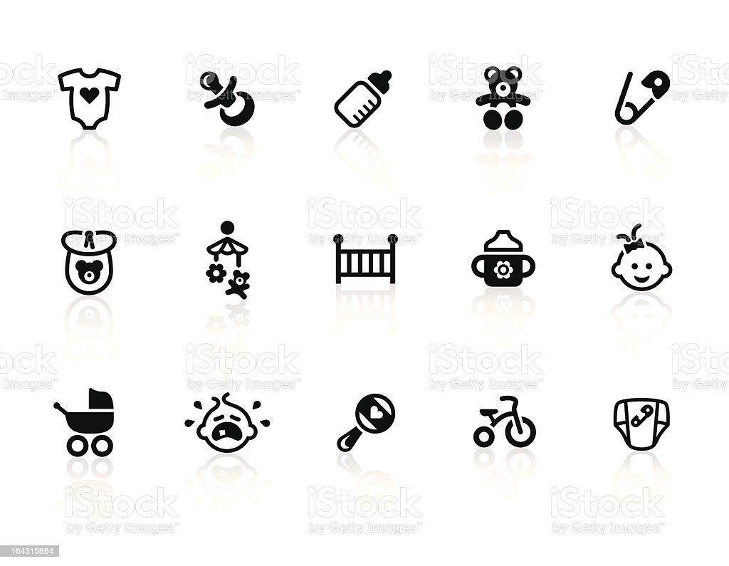 Baby icons vector art illustration