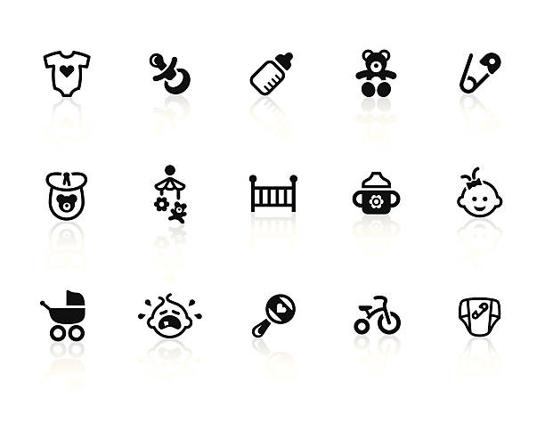 Baby icons Vector icons for your design, website or application. baby carriage stock illustrations