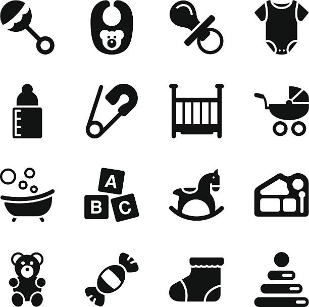 Baby Icons Vector File of Baby Icons related vector icons for your design or application. baby clothing stock illustrations