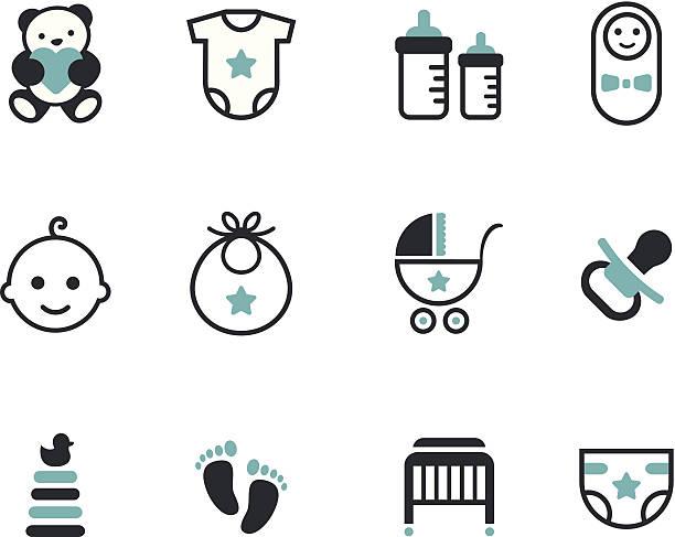 baby icons - möbelfüße stock-grafiken, -clipart, -cartoons und -symbole