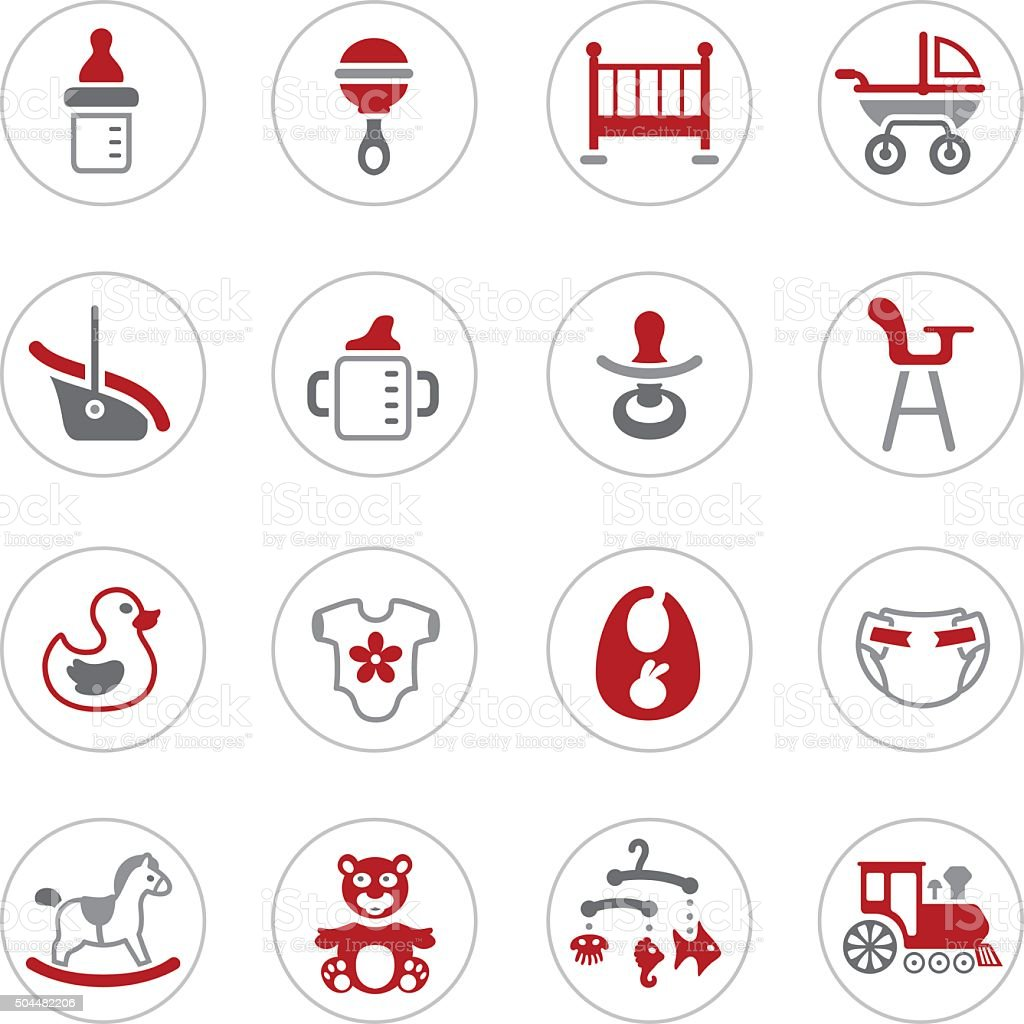 Icônes de bébé - Illustration vectorielle