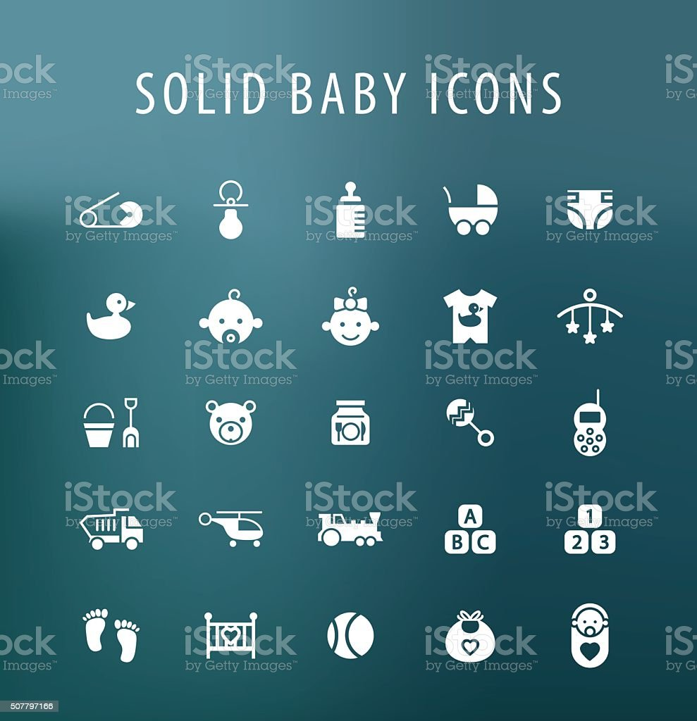Baby Icons. vector art illustration