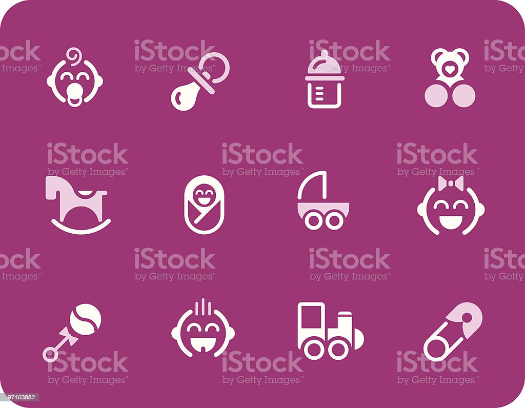 Baby icons royalty-free stock vector art