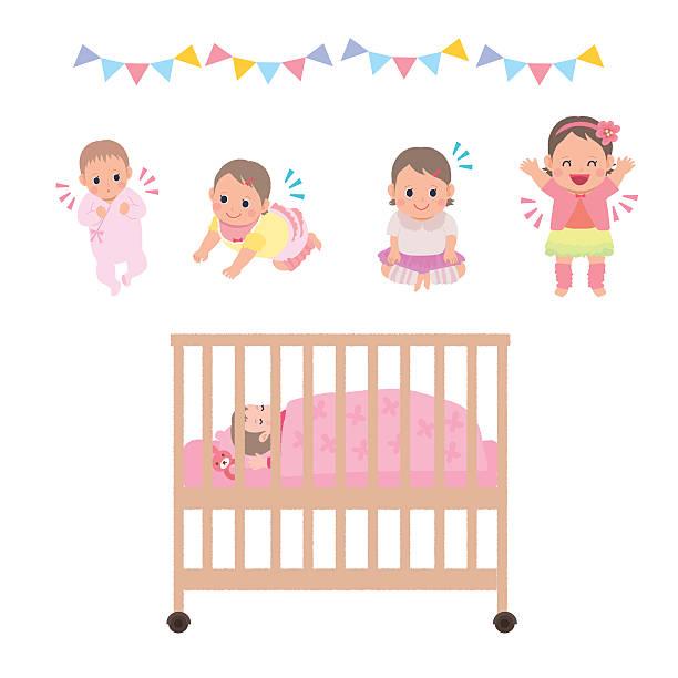 Royalty Free Baby Crib Clip Art, Vector Images ...