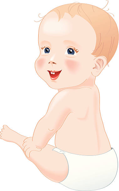 Cute baby boy clapping hands Royalty Free Vector Image
