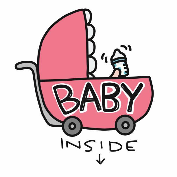illustrations, cliparts, dessins animés et icônes de bébé à l'intérieur de bébé voiture cartoon doodle vector illustration - child car sleep