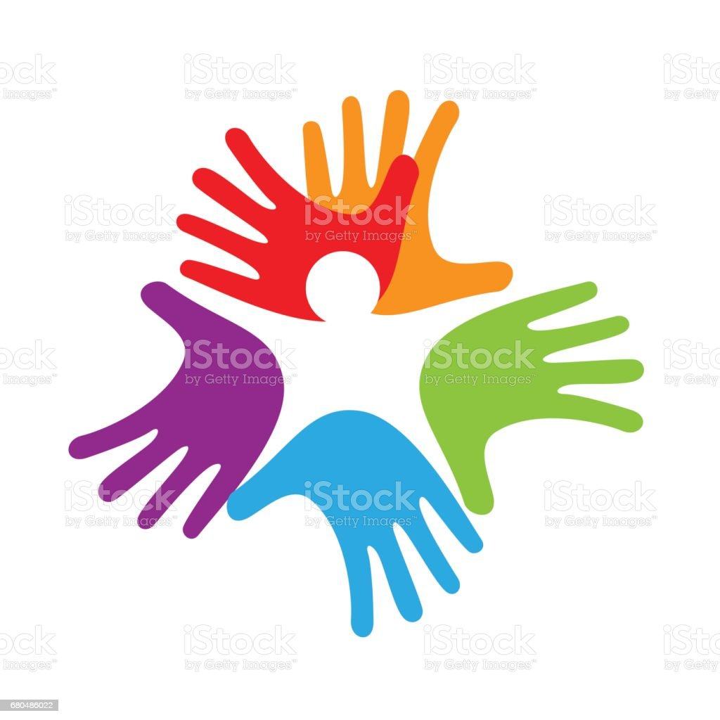 baby inside hands, solidarity concept vector art illustration