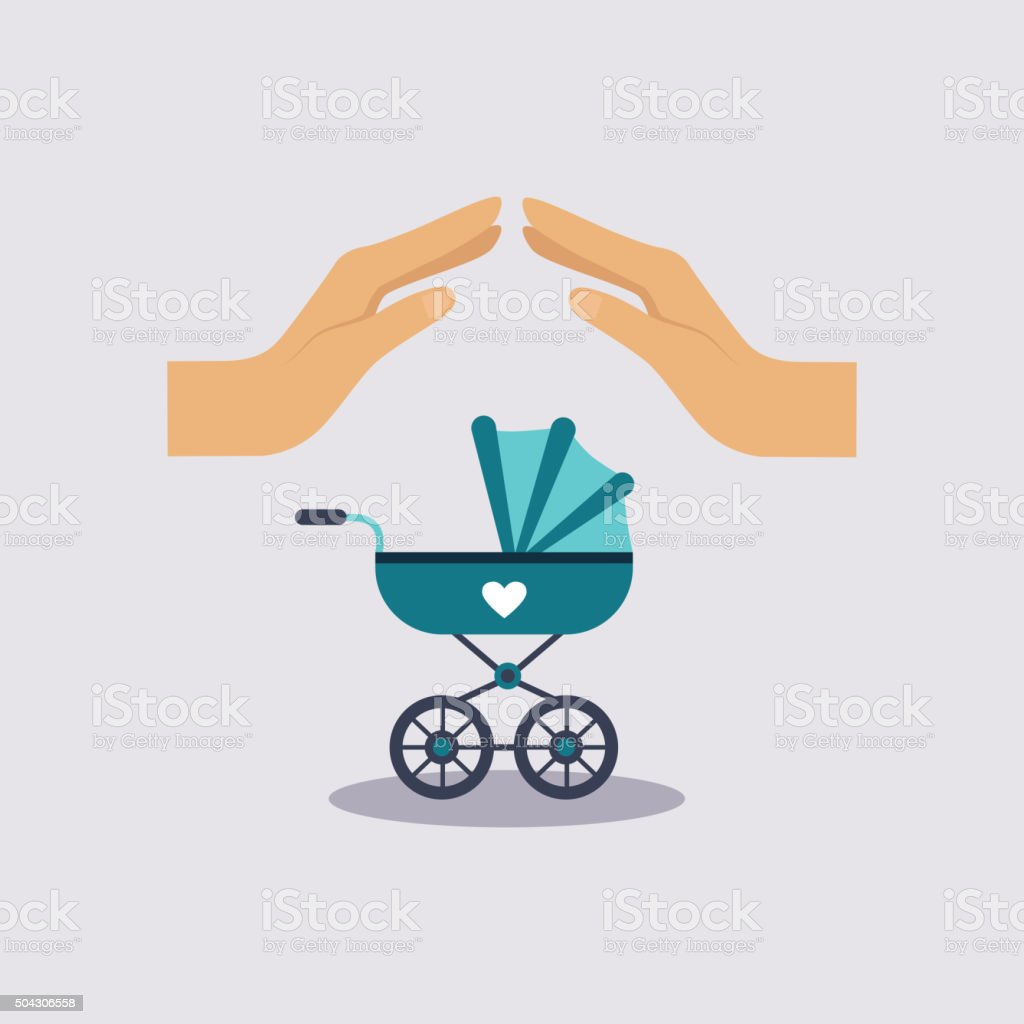 Baby Insurance Vector Illustartion vector art illustration