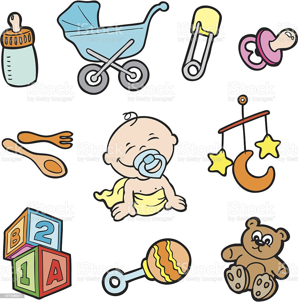 Baby Items Stock Illustration - Download Image Now - iStock