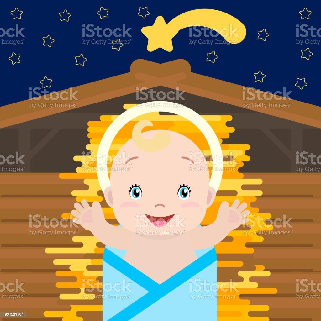 Baby Jesus. Vector. vector art illustration