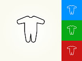 Baby Jumpsuit Black Stroke Linear Icon