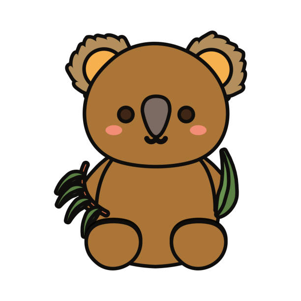 baby koala  vector illustratio vector art illustration