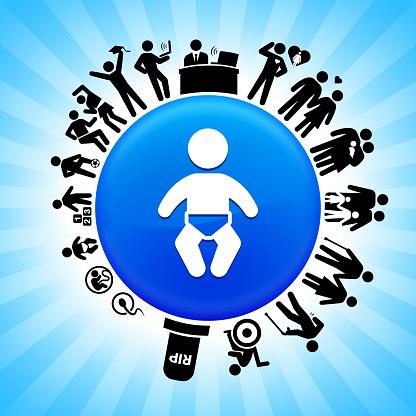 Baby Stadia Van De Levenscyclus Van Life Achtergrond Stockvectorkunst en meer beelden van Baby