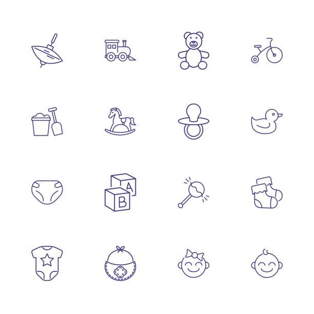 赤ちゃん線アイコン セット - 保育点のイラスト素材/クリップアート素材/マンガ素材/アイコン素材