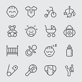 Baby line icon