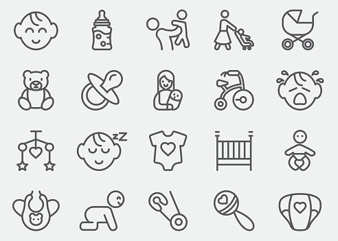 Baby Line Icons | EPS10
