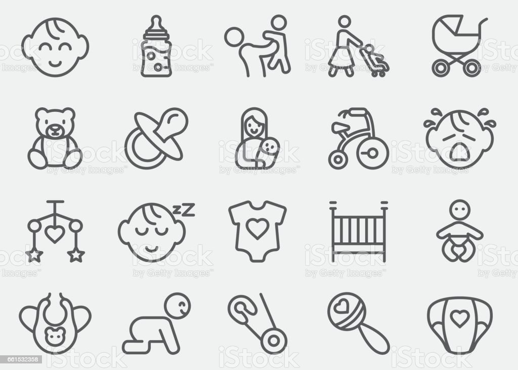 Baby Line Icons | EPS10 - Illustration vectorielle