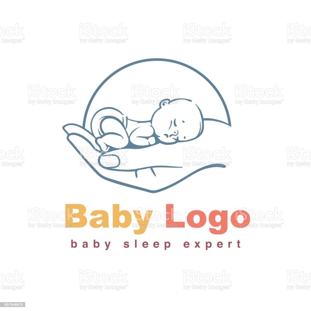 baby logo template stock illustration