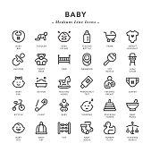 Baby - Medium Line Icons