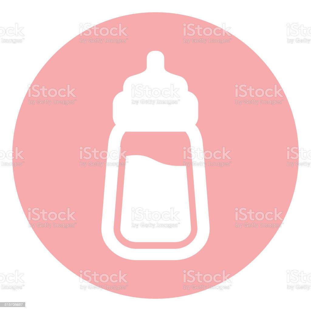 Icône de Bouteille de lait pour bébé - Illustration vectorielle