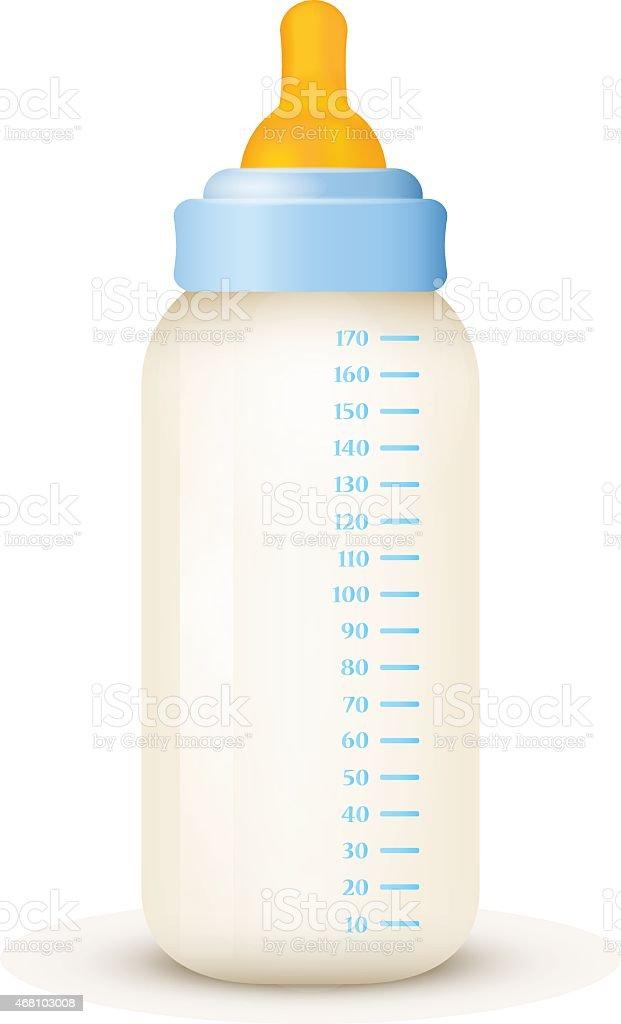 Bébé lait de la bouteille. Vecteur EPS - 10 - Illustration vectorielle