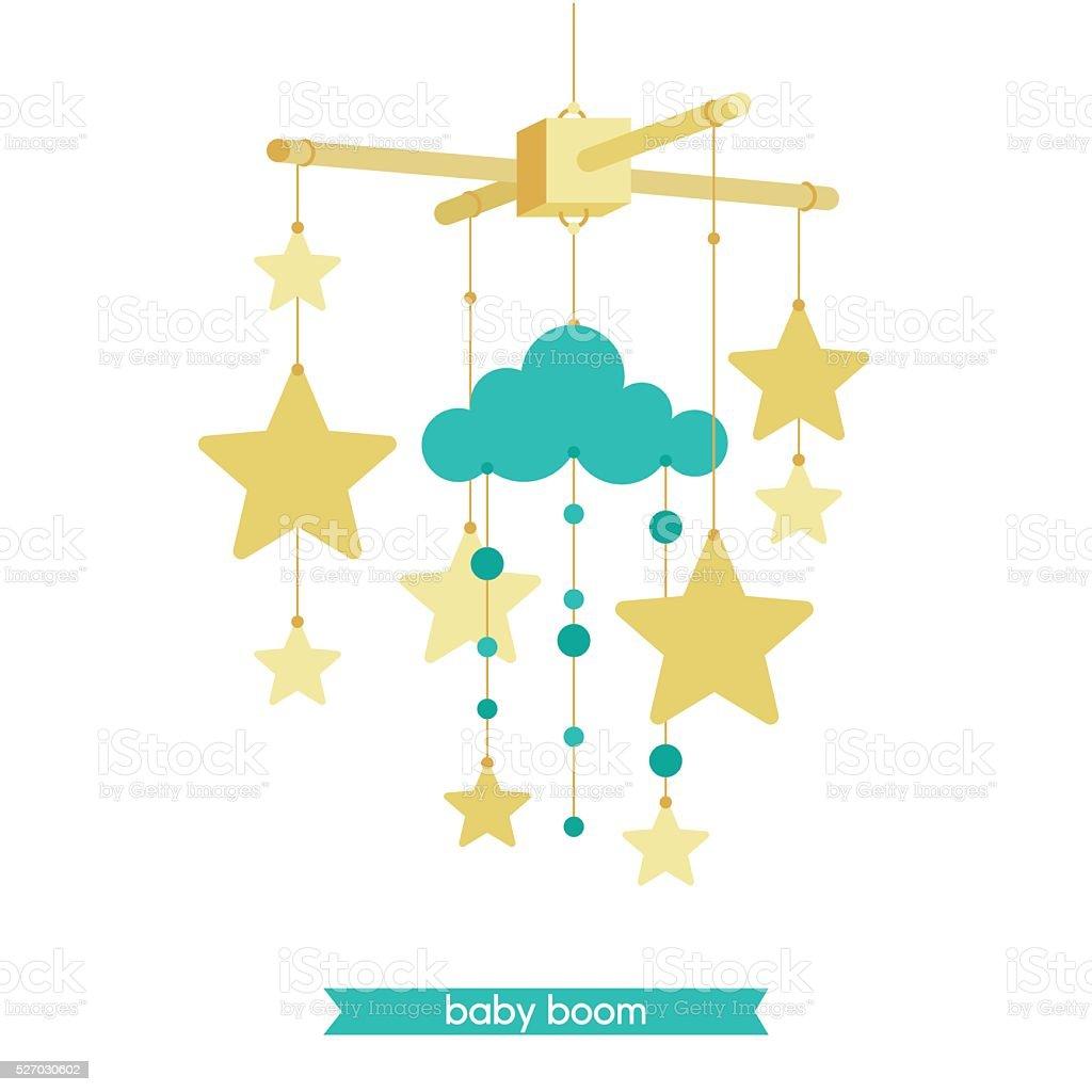 Baby mobile 1 vector art illustration