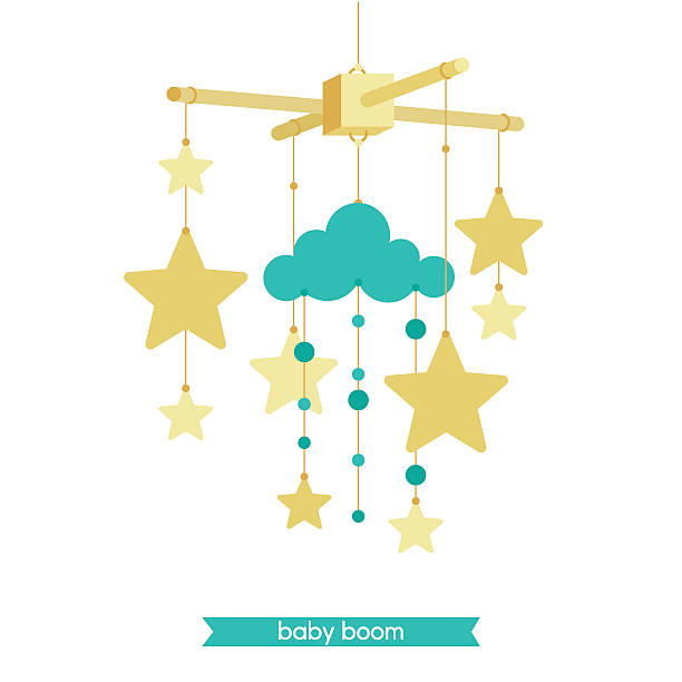 royalty free baby mobile clip art vector images illustrations istock. Black Bedroom Furniture Sets. Home Design Ideas
