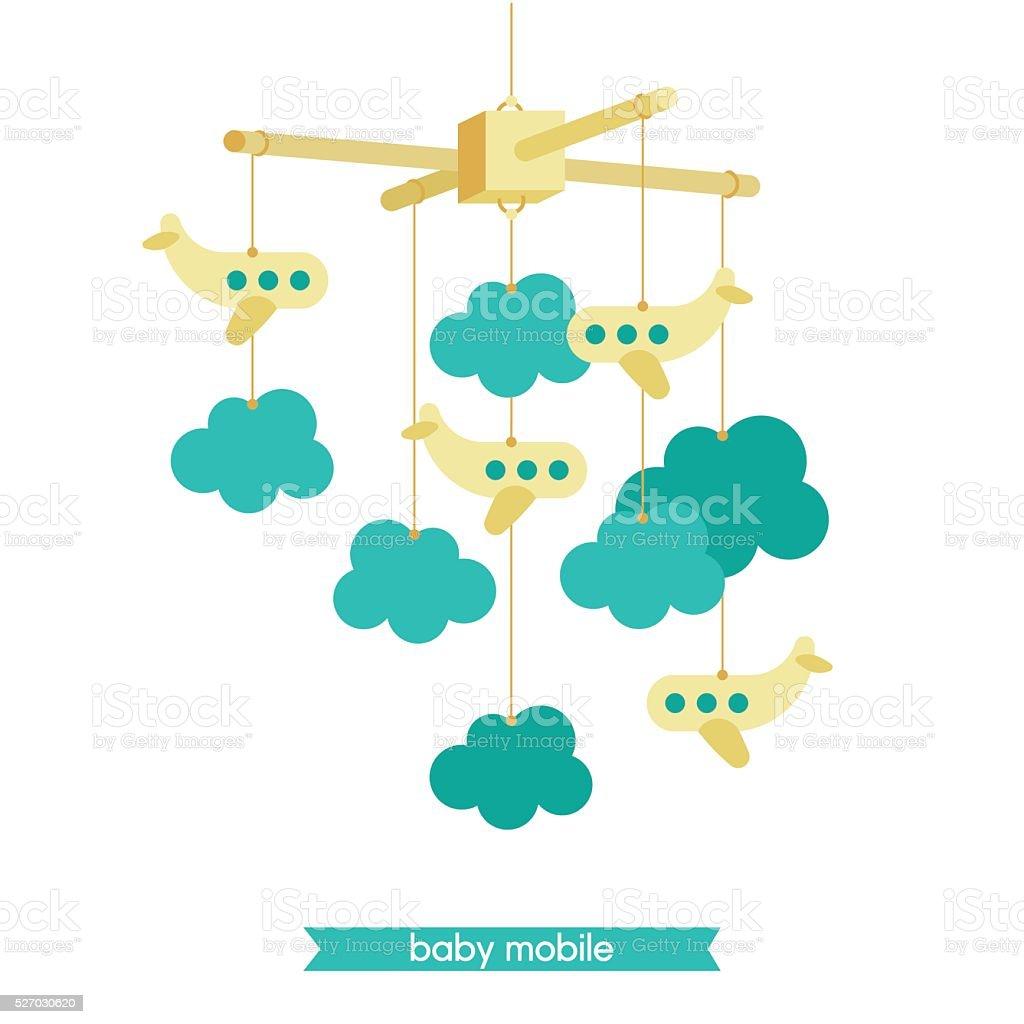 Baby mobile 2 vector art illustration