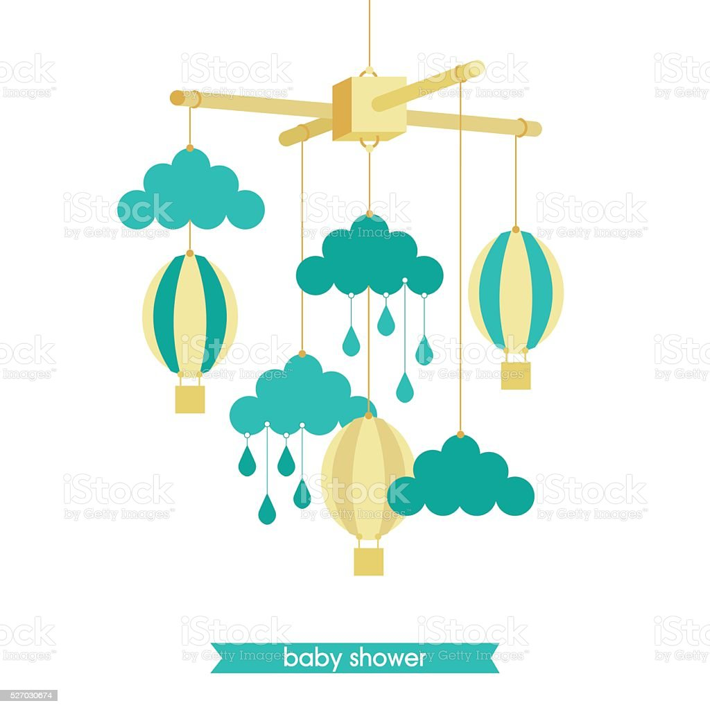 Baby mobile 4 stock vector art more images of baby for Baby shapes mobile